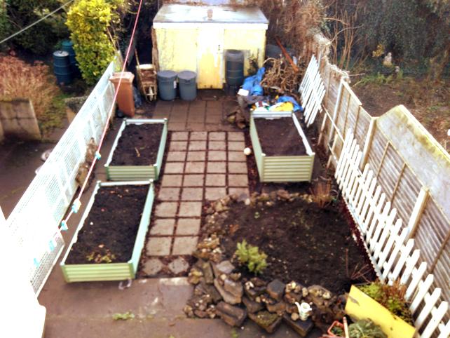 Garden in February 2018